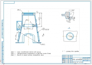 Ремонтный чертеж и восстановление блока цилиндров