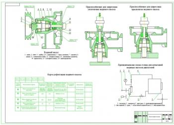 Ремонтный чертёж автомобильного водяного насоса двигателя с разработкой технологии ремонта