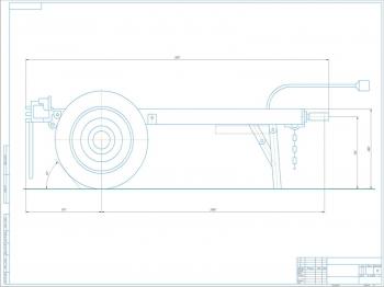 Чертеж одноосного автомобильного прицепа ТАПЗ-755