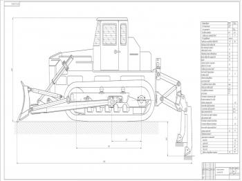 Чертежи рыхлителя ступенчатого типа бульдозера Д-250