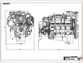 Проект четырехтактного восьми цилиндрового V-образного дизельного двигателя КамАЗ-740