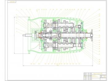 Коробка передач автомобиля КАМАЗ-5320 с редуктором-делителем