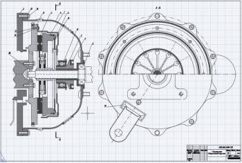 Конструкция фрикционного сцепления на миллиметровке