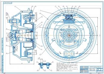 Чертеж переднего тормозного механизм автомобиля ГАЗ-4301