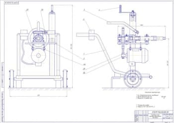 Набор чертежей (общий вид, сборочные, детали) гайковерта для колес грузовых автомобилей