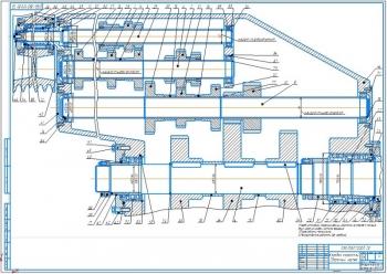 Конструктивная часть привода основного движения и механизма переключения токарно-лобового станка