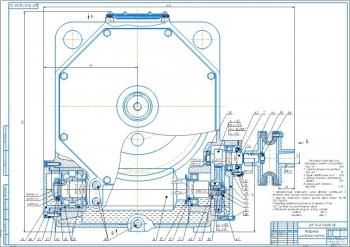 Конструкция индивидуального привода с цилиндрическо-червячным редуктором