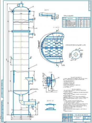 Проект ректификационной колонны для разделения бинарной смеси