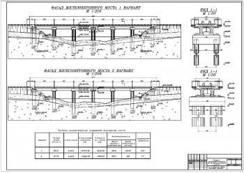 Проектирование железобетонного железнодорожного моста