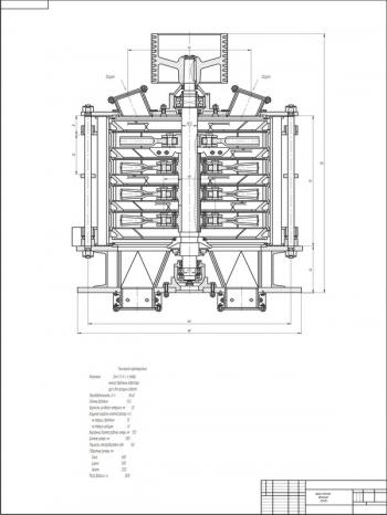 Чертеж дробилки молотковой вертикальной модели ВМД-105А