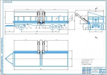 Конструктивная разработка накопителя-перегружателя на базе прицепа 3ПТС-12