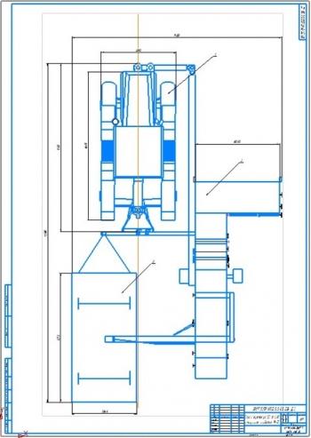 Конструктивная разработка прицепного уборочного агрегата к комбайну ПК-5