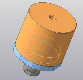 12. 3D-модель гидроцилиндра в сборе