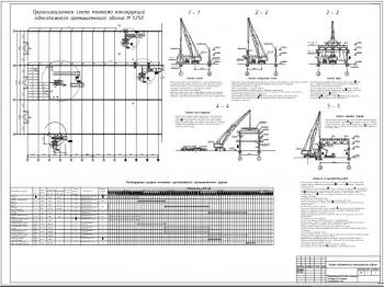 Проект монтажа конструкции одноэтажного промышленного П-пролетного здания