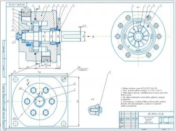 Проект конструкции пластинчатого насоса двукратного действия