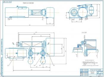 Проект механизма подъёма груза мостового крана грузоподъемностью 10000 кг