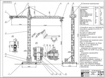 Проект конструкции башенного крана НПБ-7 с неповоротной башней