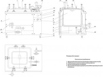 Сборочный чертеж пищеварочного котла модели КЕ-100