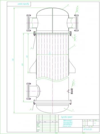 Чертежи конструкции вертикального кожухотрубного теплообменника