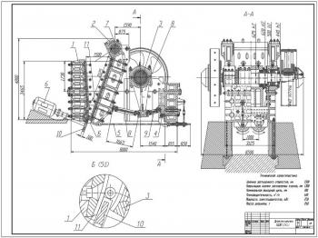 Модернизация щековой дробилки ЩДП 1,5 х 2,1 для дробления горных пород