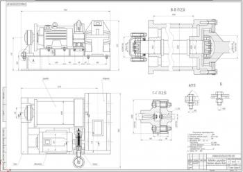 Конструктивная разработка грузовой лебедки стрелового крана