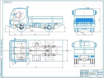 Проект конструкции передней рессорной подвески ходовой системы грузового автомобиля