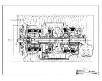 Сборочный чертеж автоматической  коробки передач Voith 864,3 для автобуса