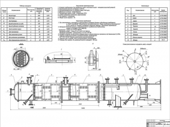 Рабочий чертеж колонны ректификационной Ø1400 мм