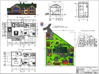 Проект загородного двухэтажного коттеджа для 7 человек
