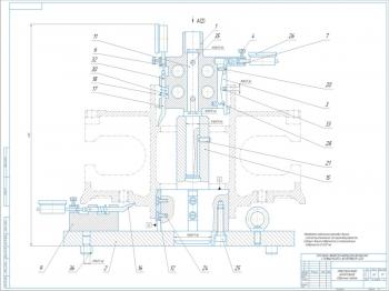 Приспособление контрольное для проверки геометрии ступиц колёс автоприцепа 5232