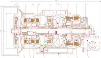 Сборочный чертеж автоматической коробки передач voith
