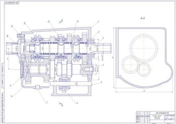 Чертеж общего вида коробки передач УАЗ-31512
