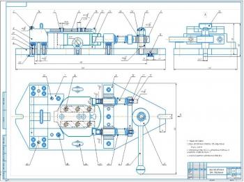 Проект приспособления для сверления в детали клин трех отверстий