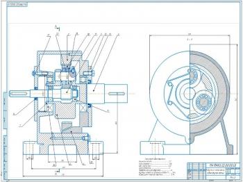 Планетарный редуктор к цепному реверсивному конвейеру