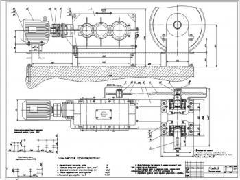 Конструкция привода ленточного конвейера