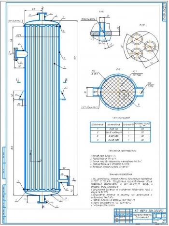Кожухотрубный теплообменник-конденсатор