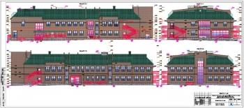 Проект здания детского сада на 120 мест