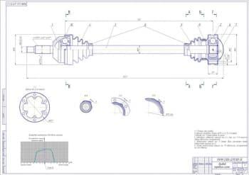 Сборочный чертеж привода передних колес
