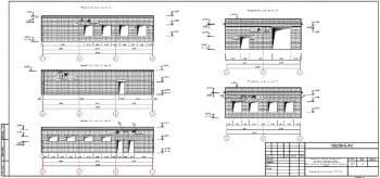 13.Чертеж развертки стен по осям 1, 2, 3, А, Г, с указанными отметками (формат А3)