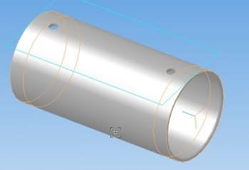 13,14. Деталь цилиндр 3D-модель