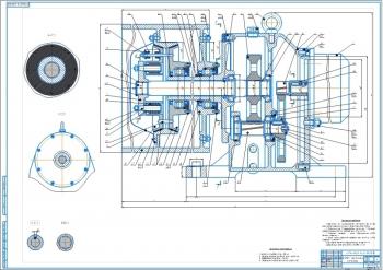 13.Привод к ленточному конвейеру, чертеж общего вида (лист 1) А0