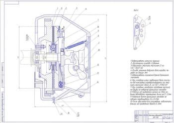 Сборочный чертеж сцепления автомобиля ЗИЛ-130