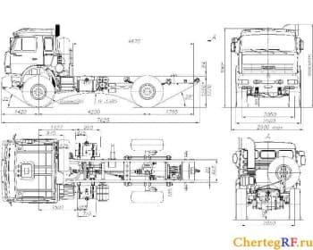 Чертежи автомобилей КаМАЗ-55111 и КаМАЗ-4326