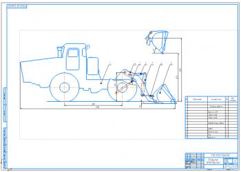 Проектирование колесного одноковшового погрузчика на базе шасси трактора К-700