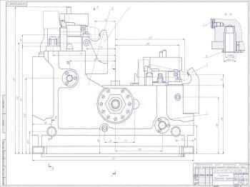 Чертеж сборочный спутника линии механической обработки вилок переключения передач автомобиля Урал