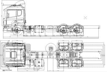 Чертеж общего вида грузового тягача