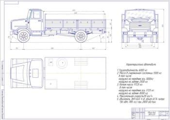Чертеж автомобиля ЗИЛ-4331