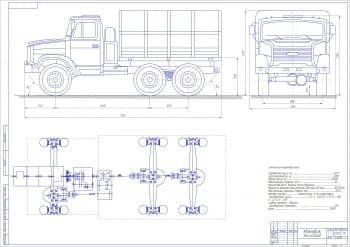 Чертеж автомобиля ЗИЛ-433440