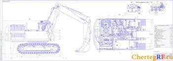 Набор чертежей экскаватора ЭО-5124