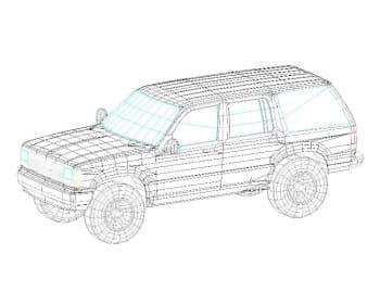 15.Общего вида чертеж автомобиля легкового FORD EXPLORER в 3D формате